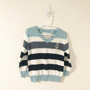 Max & Mia Nautical Anchor Striped Sweater 3T